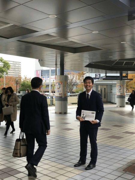 駅での写真